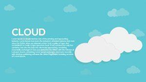 Metaphor Cloud PowerPoint Template and Keynote Slide