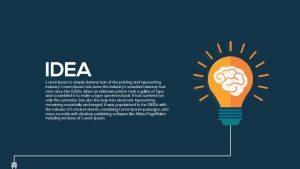 Metaphor Light Bulb Idea PowerPoint Template and Keynote Slide