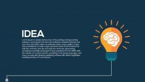 Metaphor Light Bulb Idea PowerPoint Template and Keynote Slide