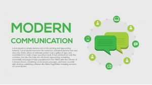 Modern Communication PowerPoint and Keynote Template