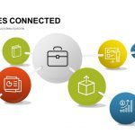 3D Spheres Connected Powerpoint and Keynote template