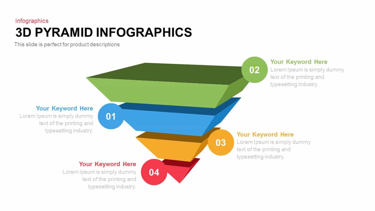 3d infographics powerpoint pyramid template and keynote template