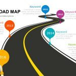 Curved Road Map Powerpoint and Keynote template