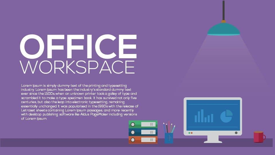 Office Workspace Metaphor Powerpoint and Keynote template