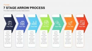 7 Stage Process Arrow PowerPoint Template and Keynote Slide