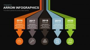 Infographics Arrow PowerPoint Template and Keynote Slide