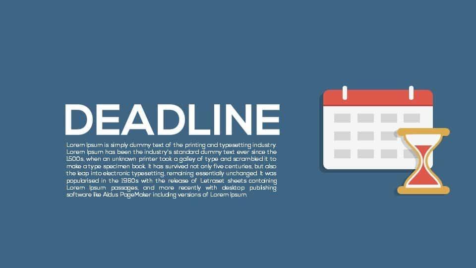Deadline Metaphor Powerpoint and Keynote template