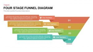 4 Stage Funnel Diagram PowerPoint Template and Keynote