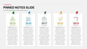 Pinned Notes PowerPoint Template and Keynote Slide