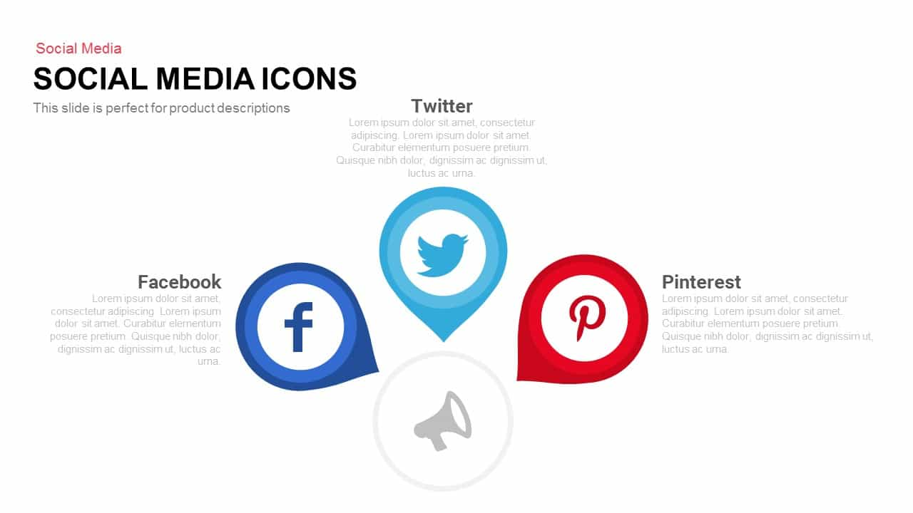 social media icons powerpoint and keynote template slidebazaar. Black Bedroom Furniture Sets. Home Design Ideas