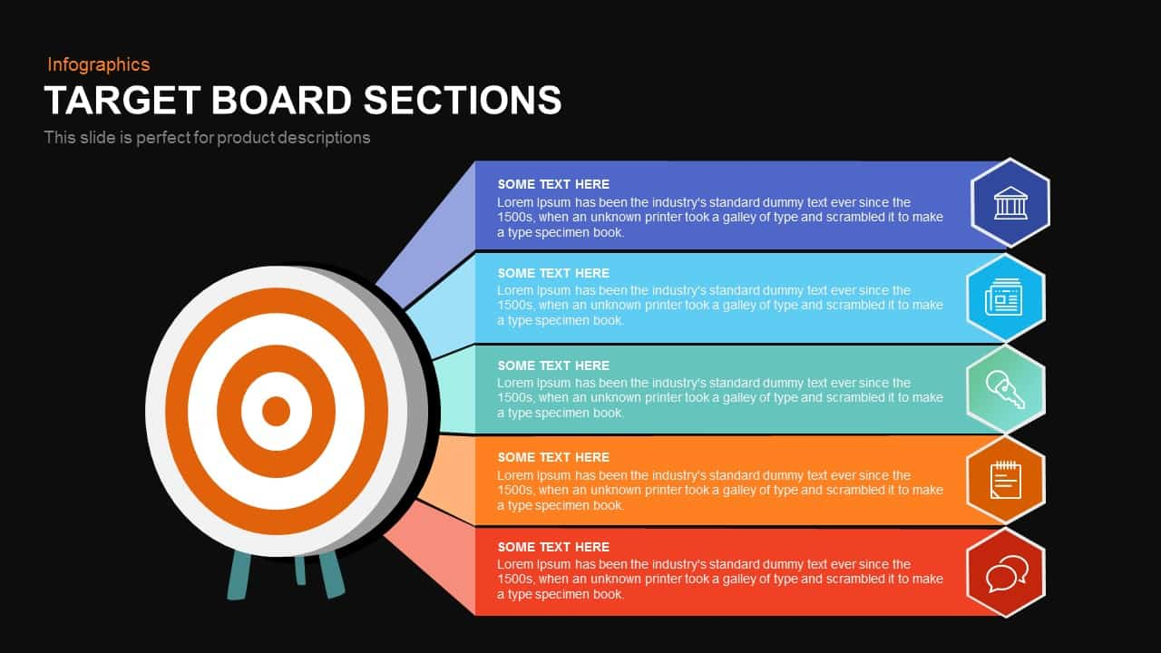 Target Board Sections Powerpoint and Keynote template
