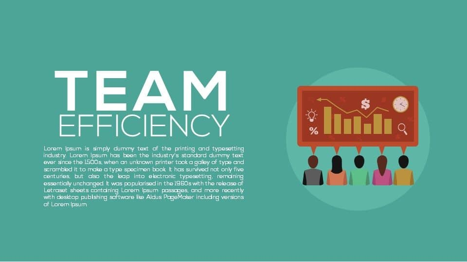 Team Efficiency Powerpoint Template and Keynote Template