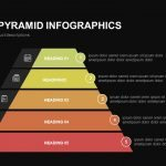 5 Staged Pyramid Infographics Powerpoint and Keynote template