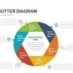 6 Sided Shutter Diagram Powerpoint and Keynote template