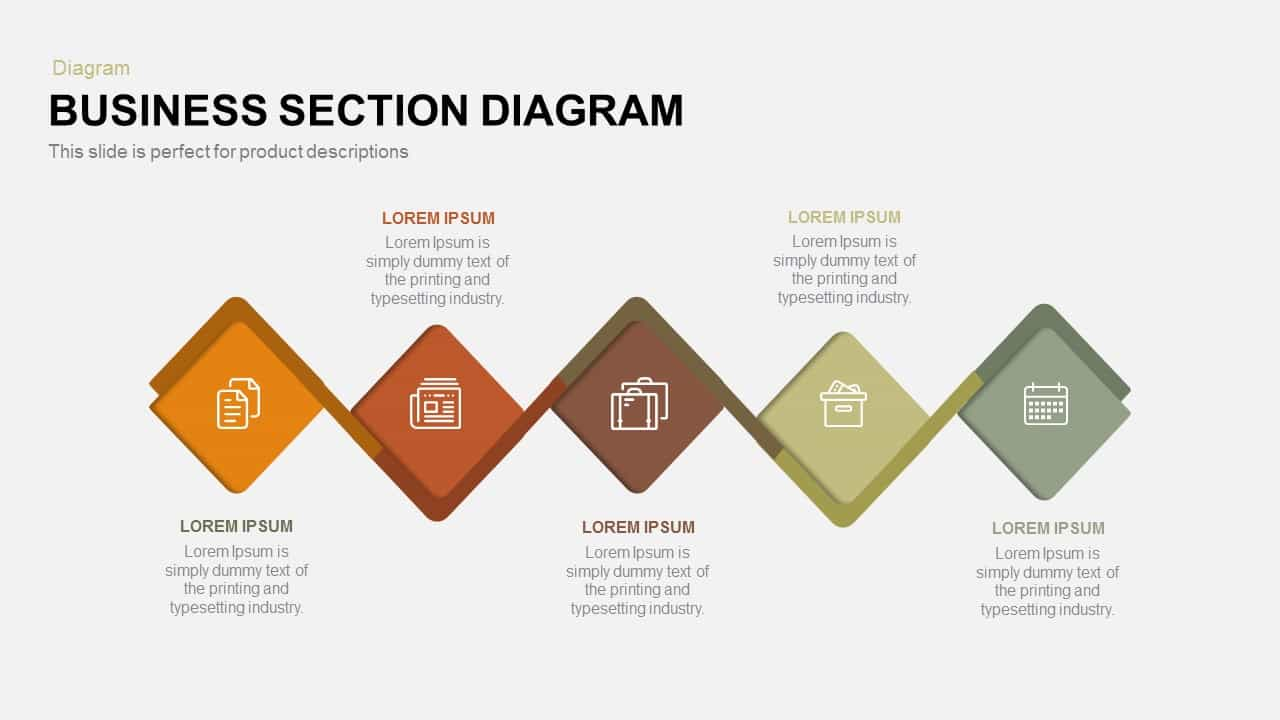 Business Section Diagram Powerpoint and Keynote template