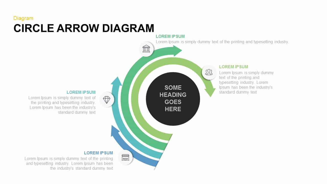 Circle Arrow Diagram Powerpoint and Keynote template