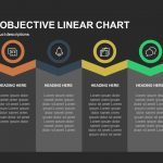 Company Objective Linear Chart Powerpoint and Keynote template
