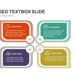Four Staged Textbox Powerpoint and Keynote Slide