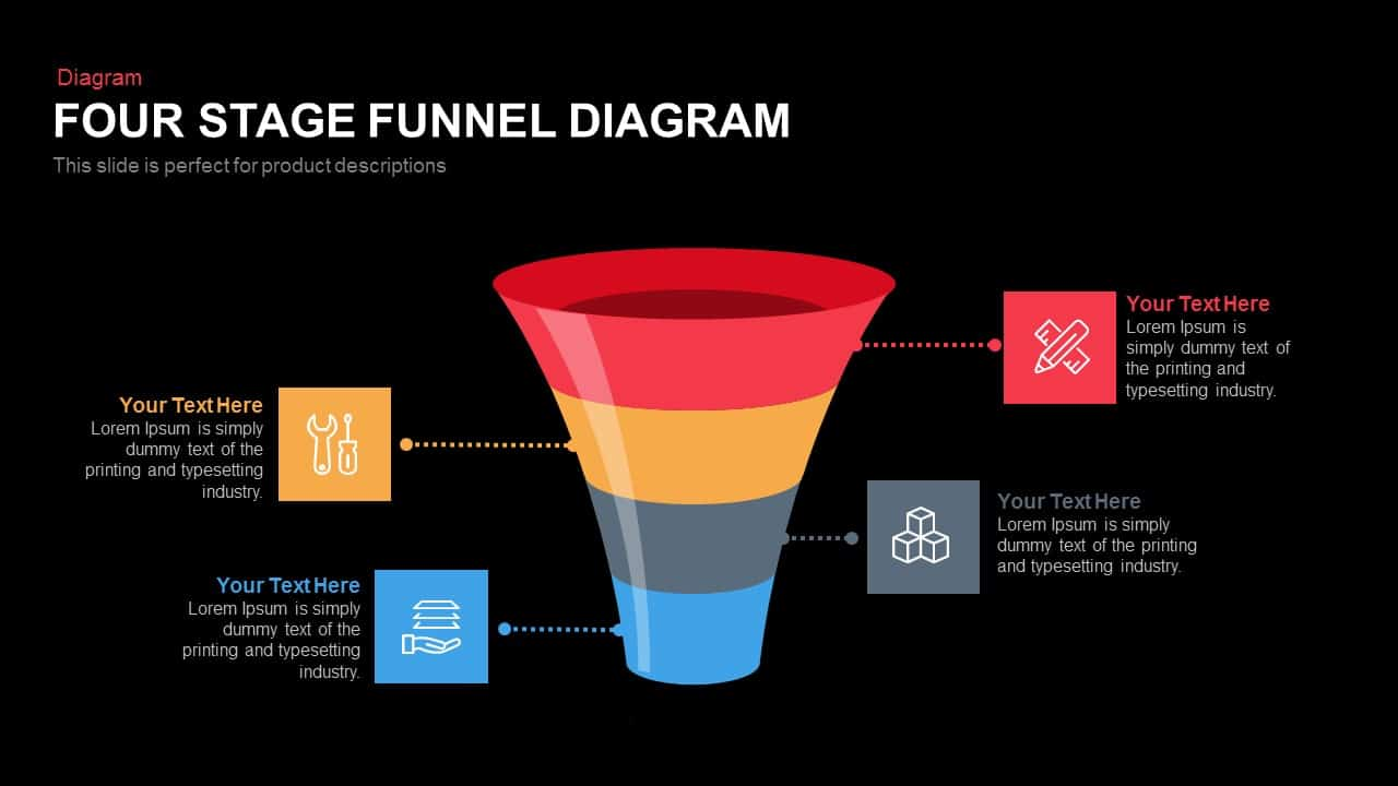 100+ [ Funnel Diagram Free Powerpoint Template ] : Flat ...