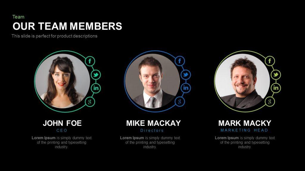Our Team Members Powerpoint And Keynote Template Slidebazaar