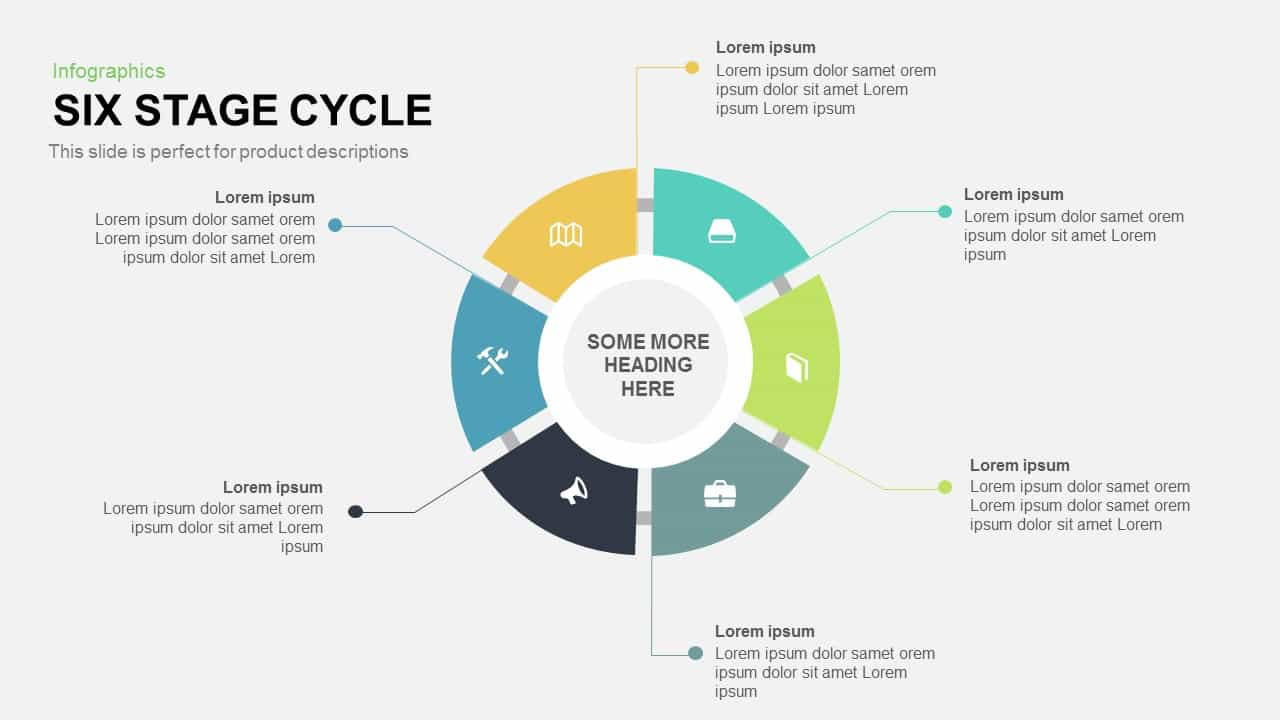 Six Stage Cycle Powerpoint and Keynote template