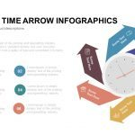 Six Stage Time Arrow Infographics PowerPoint Template