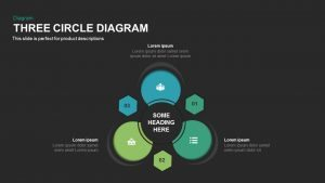 Three Circle Diagram PowerPoint Template and Keynote