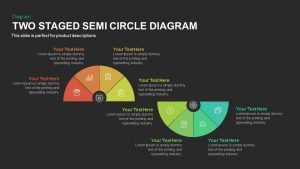 Two Stage Semi Circle Diagram Template for PowerPoint and Keynote