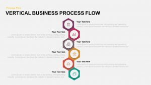 Vertical Business Process Flow PowerPoint Template and Keynote Slide