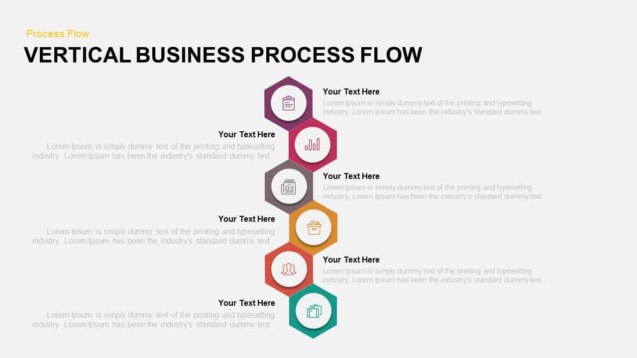 Vertical business process flow powerpoint template keynote template vertical business process flow powerpoint template and keynote template toneelgroepblik Images
