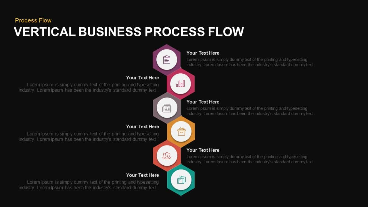 Vertical business process flow powerpoint template keynote template vertical business process flow powerpoint template and keynote template flashek Choice Image