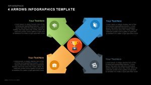 4 Arrows Infographics Powerpoint and Keynote template