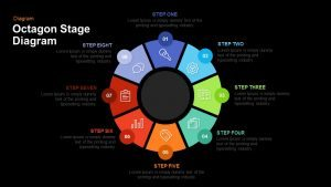 Octagon Stage Process Flow PowerPoint Template & Keynote