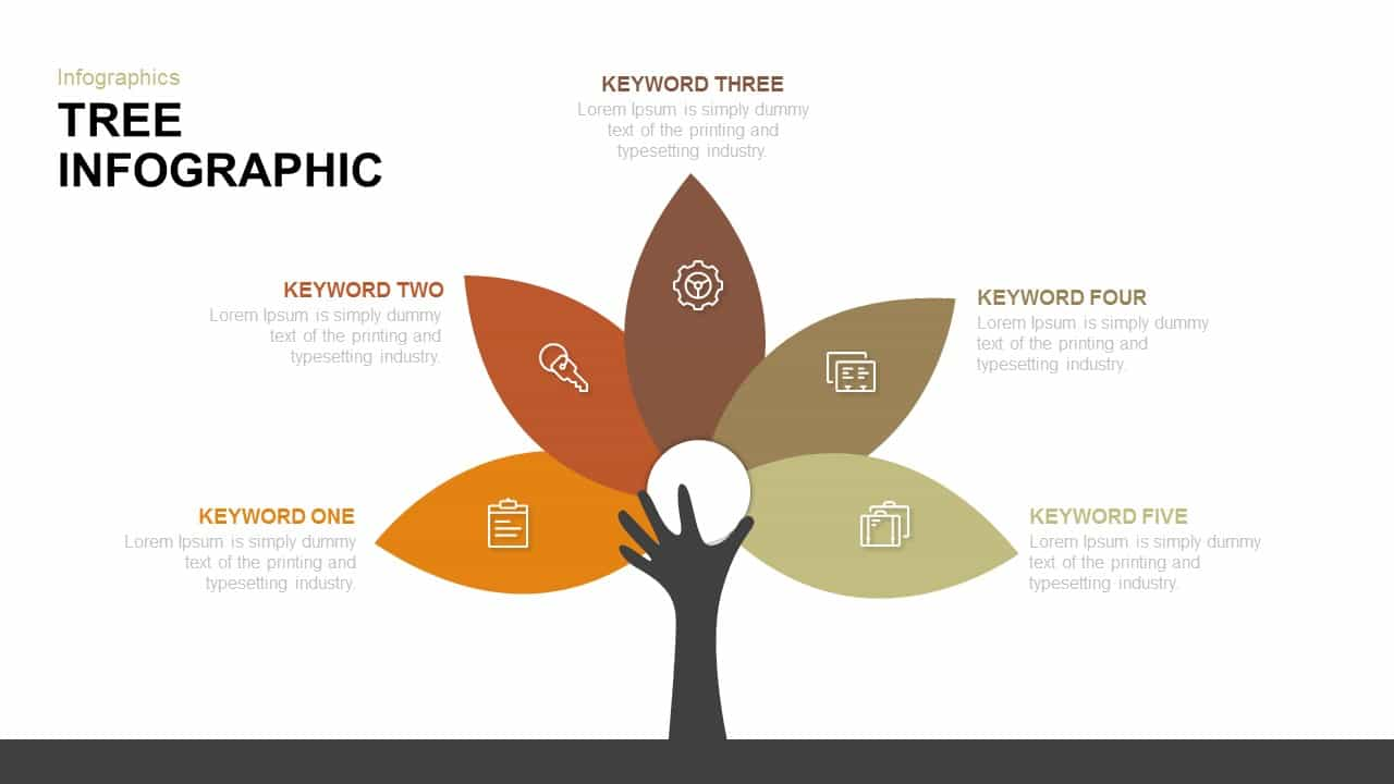 Tree Infographic Powerpoint and Keynote template