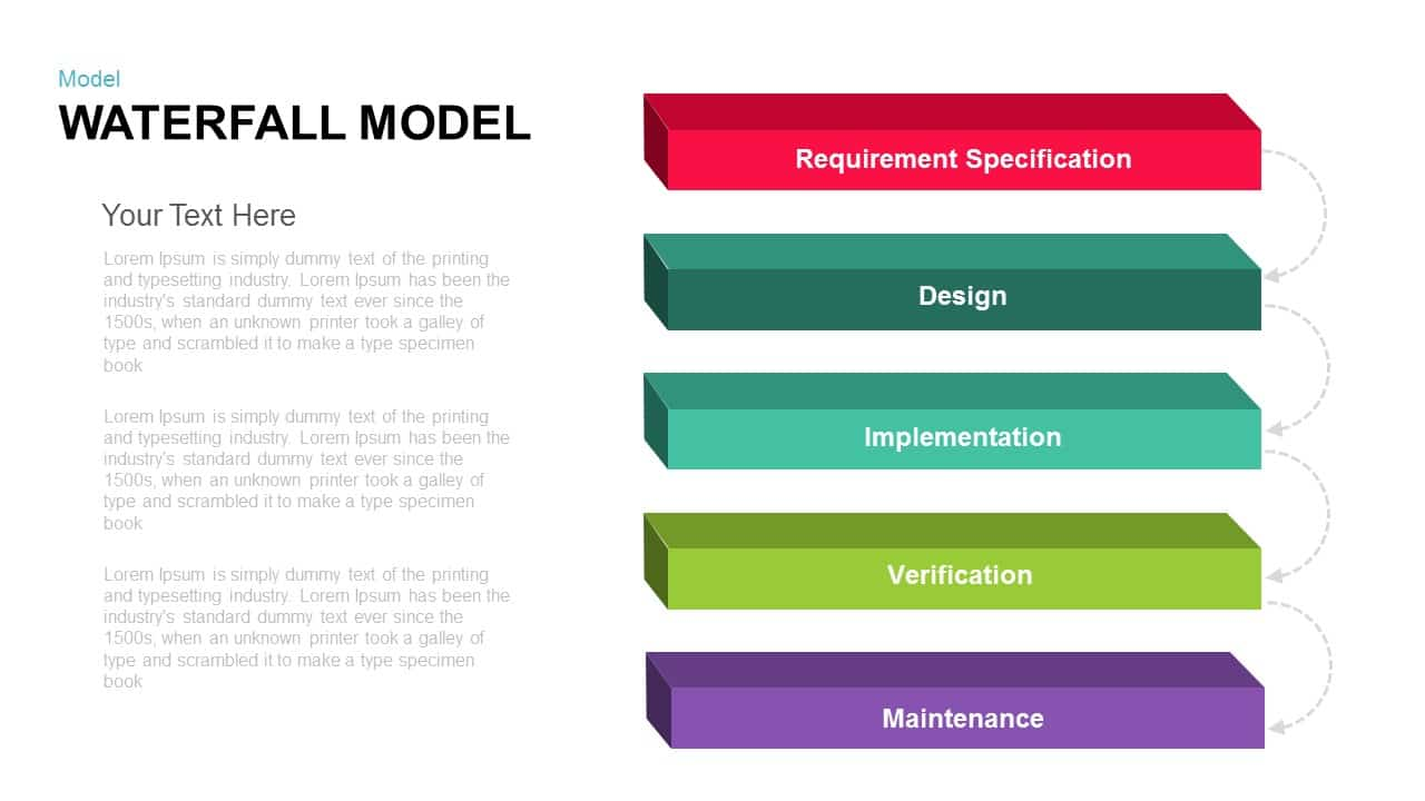 Waterfall model powerpoint presentation and keynote template waterfall model powerpoint and keynote template maxwellsz