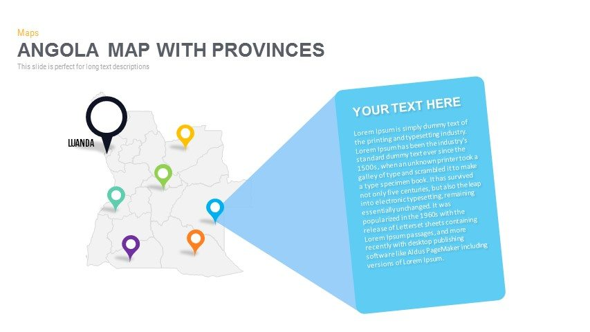 Angola Map With provinces Powerpoint and Keynote template