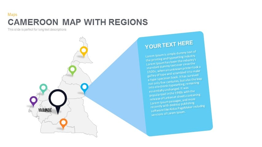 Cameroon Map With regions Powerpoint and Keynote template