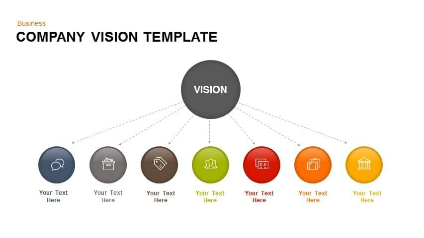 Company vision PowerPoint template and keynote
