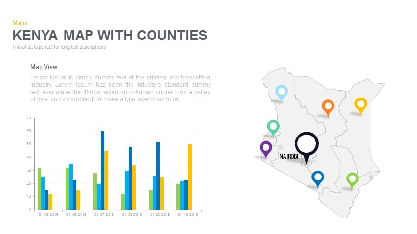 Kenya Map With counties Powerpoint and Keynote template