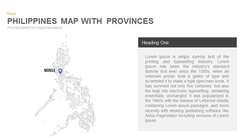 Philippines Map Powerpoint and Keynote template