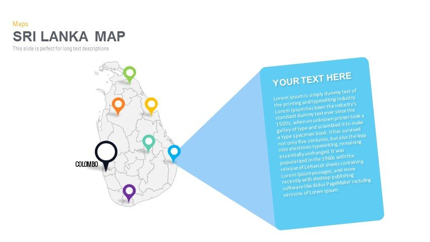 Sri Lanka Map Powerpoint and Keynote template