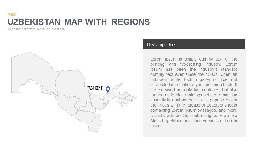 Uzbekistan Map Powerpoint and Keynote template