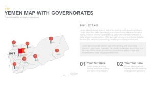 Yemen Map With  governorates Powerpoint and Keynote template