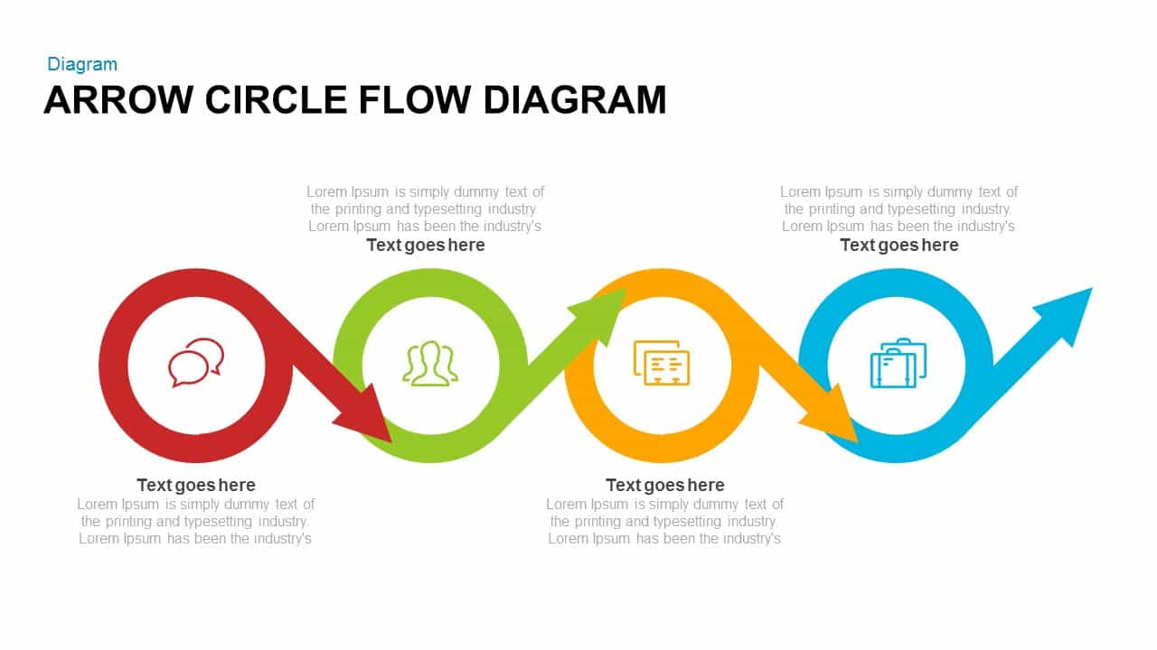 Arrow Circle Flow Diagram Powerpoint and Keynote template ...