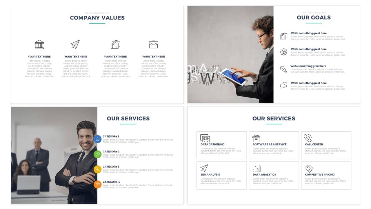 Simple Multipurpose PowerPoint Template and KeynoteFree