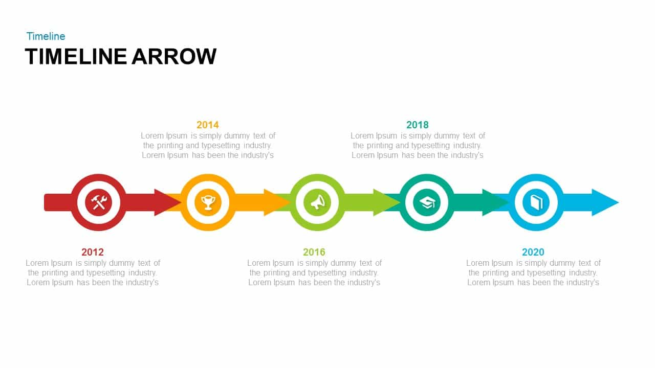 Timeline arrow powerpoint and keynote template slidebazaar timeline arrow powerpoint and keynote template toneelgroepblik Gallery