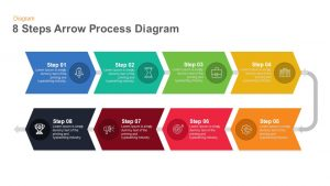 8 Steps Arrow Process Diagram PowerPoint Template and Keynote