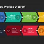 8 steps arrow process diagram