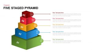 Five Staged Pyramid PowerPoint template and Keynote Slide