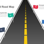 Four Staged Road Map Keynote and Powerpoint template